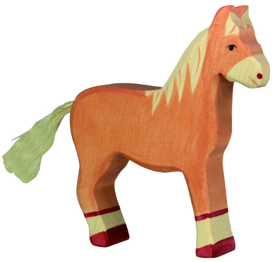 Holztiger Wooden Light Brown Horse -Large