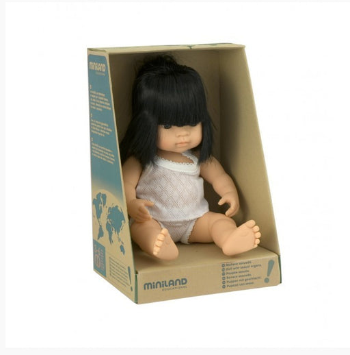 Miniland Baby Doll Asian Girl 38cm