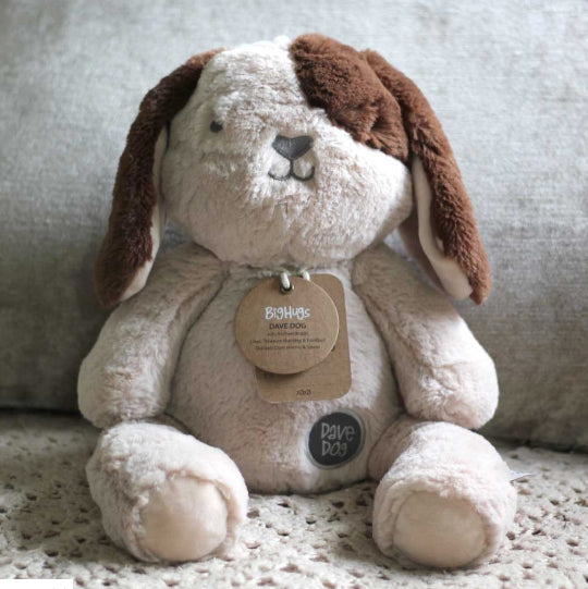 OB Design Dave The Dog Plush Huggie