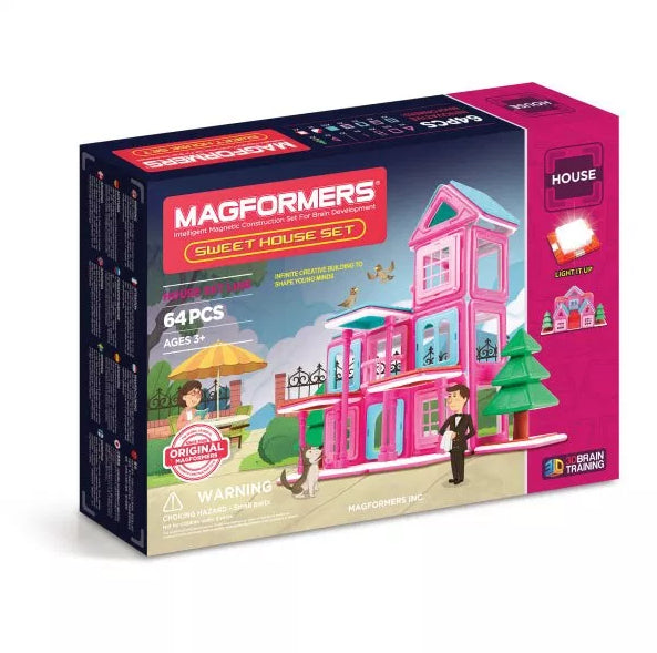 Magformers Sweet House Set /64 PCS