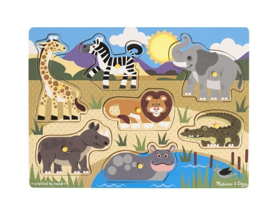 Melissa And Doug Peg Puzzle /Safari