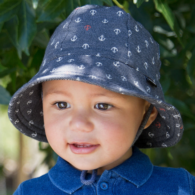 Bedhead Kids Bucket Hat/Anchor Print