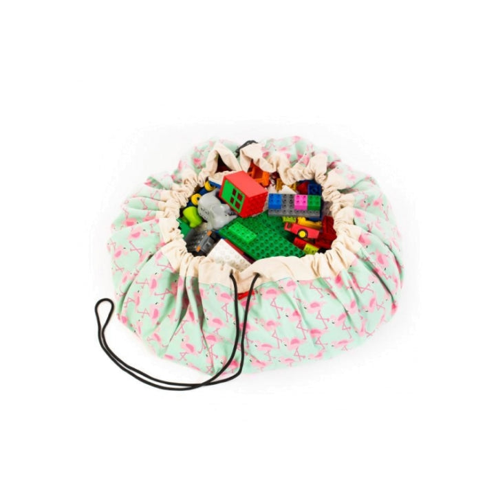 Play And Go Toy Storage Bag /Flamingo