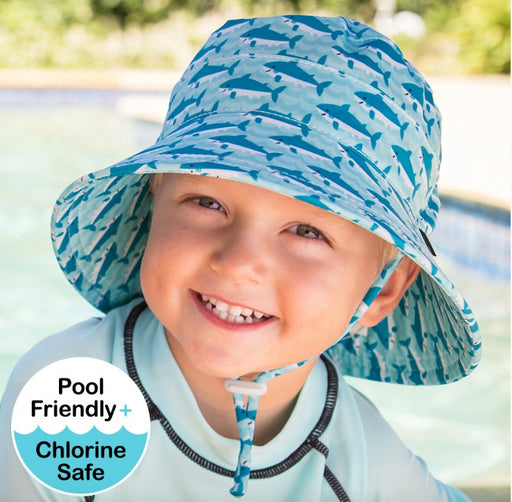 Bedhead Kids Beach Hat Bucket UPF50  Shark Print