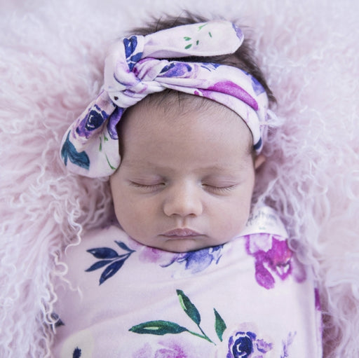 Snuggle Hunny Baby Topknot Headbands / Floral Kiss