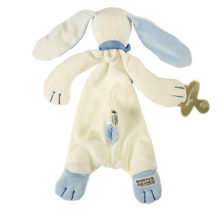Maud N Lil Baby soft toy Comforter Organic -Blue Oscar The Bunny