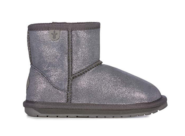 Emu Wallaby Mini Metallic Charcoal Boots
