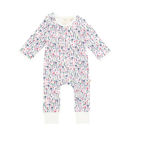 Tiny Twig Organic cotton ZipSuit L/S Pink Florals