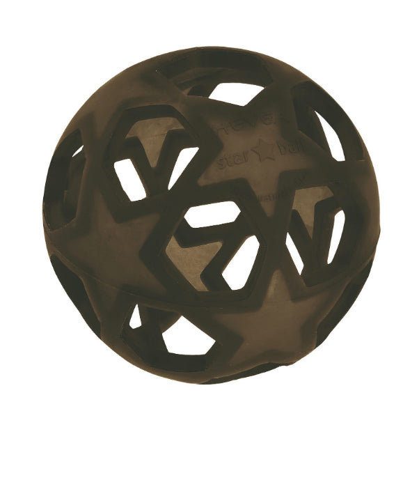 Hevea Natural Rubber Star Ball  / Black