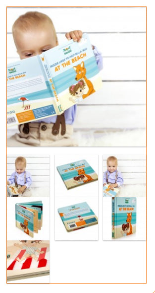 Mizzie Interactive Baby Board Book – BEACH