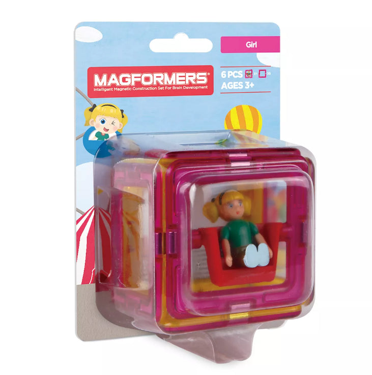 Magformers Figure Plus Set / Girl PINK