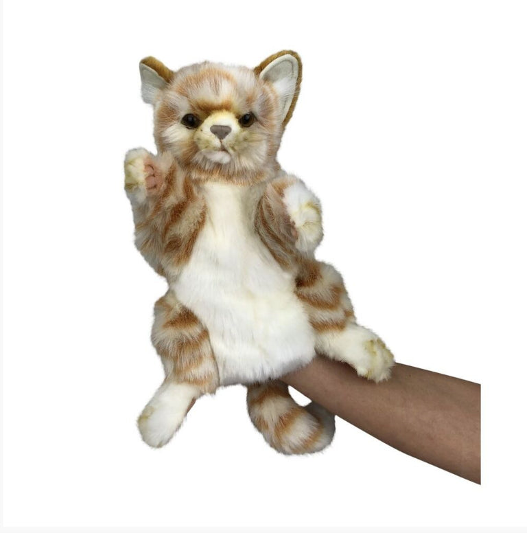 HANSA  Grey CAT HAND PUPPET / SOFT PLUSH TOY