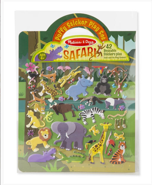 Melissa & Doug - Reusable Puffy Sticker Play Set - Safari