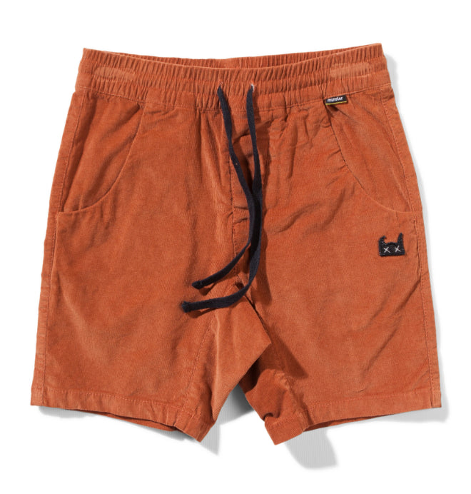 Munster  KIDS Beat Up Shorts -Rust