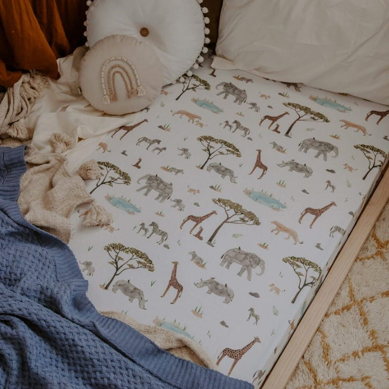 Snuggle Hunny Safari | Fitted Cot Sheet