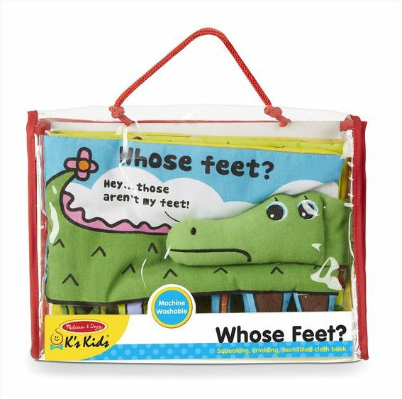 Melissa & Doug - Whose Feet? Soft Activity Book
