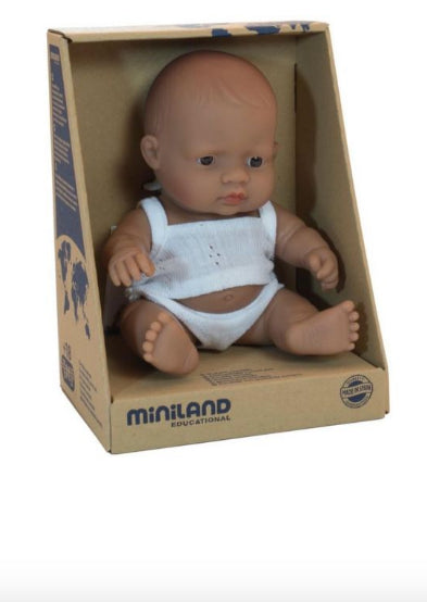 MINILAND - DOLL BABY BOY HISPANIC 21CM