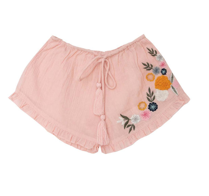 BELLA +LACE Blossom Shorts-Turkish Delight