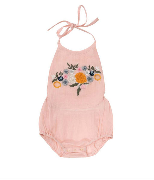BELLA + LACE Petal Romper-Turkish Delight