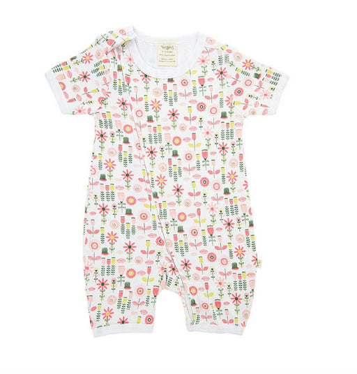 Tiny Twig ZipSuit -Tulip Garden -Organic Cotton