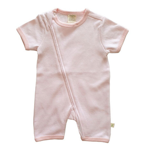 Tiny Twig ZipSuit -Pink Stripes