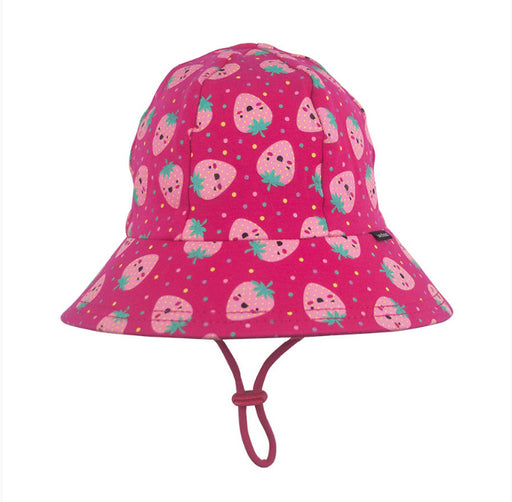 BEDHEAD HATS Girls Bucket Hat 'Strawberries' Print