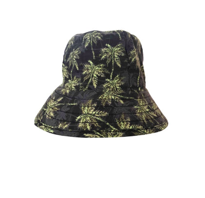 Bedhead Heritage Baby Bucket Hat with Strap - Palms
