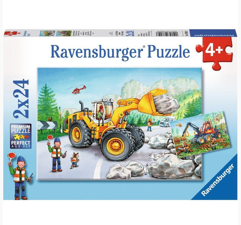 Ravensburger - Diggers At Work Puzzle 2x24pc