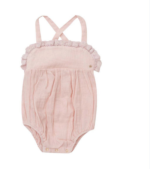 BELLA + LACE KINGSLEY ROMPER - PINK LEMONADE