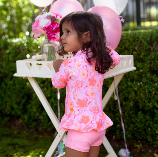 SALTY INK Miss Flamingo Playsuit