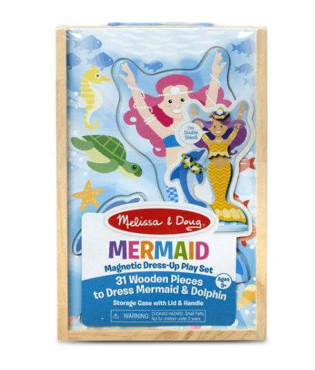 MELISSA AND DOUG Mermaid Magnetic Dress-Up Play Set