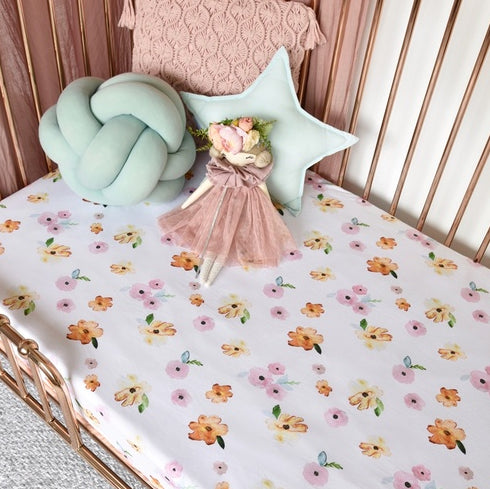 SNUGGLE HUNNY Poppy I Fitted Cot Sheet