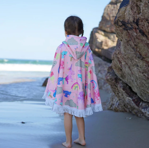 LITTLE RENEGADE -UNICORN FRIENDS HOODED TOWEL