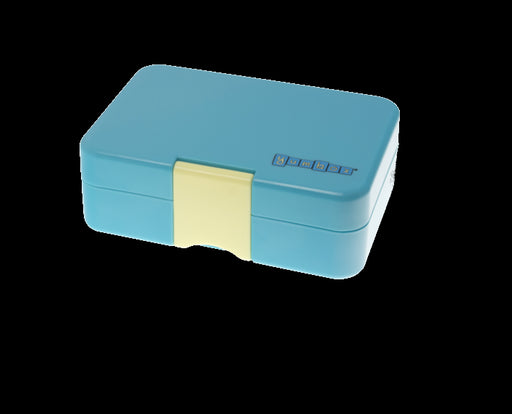 YUM BOX MINI SNACK - 3 COMPARTMENT LUNCHBOX -CANNES BLUE.