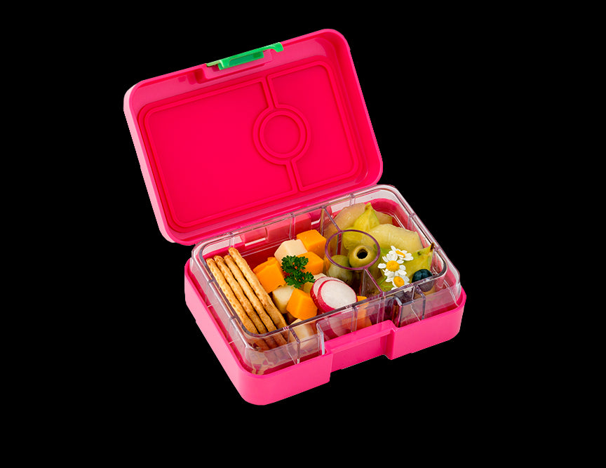 YUM BOX 3 -SNACK  COMPARTMENT LUNCH BOX -CHERIE PINK