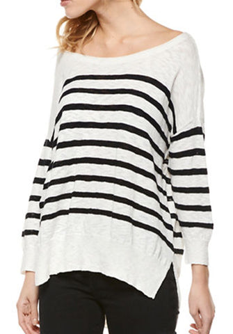 3/4 Stripe Sweater