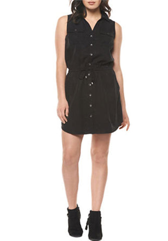 Black Tencil Shirt Dress