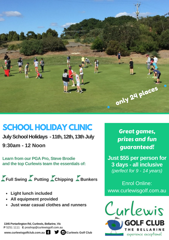School Holiday Junior Golf Clinic