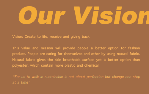 Earth Major Vision statement