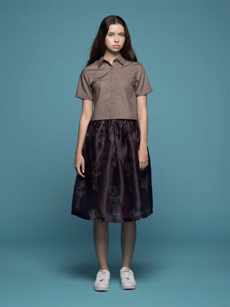 Cosmos Organza Skirt - Earth Major