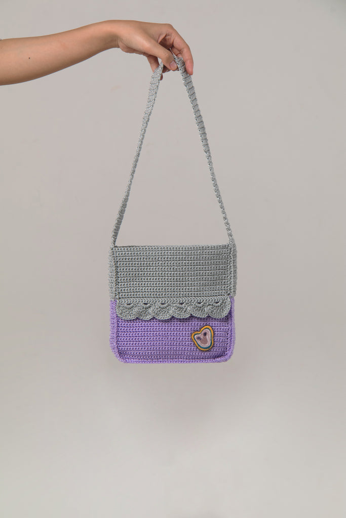 Pride Square Bag Purple Grey