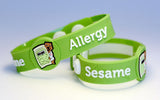 AllerBuddies Sesame allergy bracelets for kids