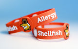 AllerBuddies Shellfish allergy bracelets for kids