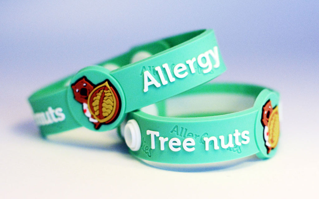 AllerBuddies Tree nuts allergy bracelets for kids