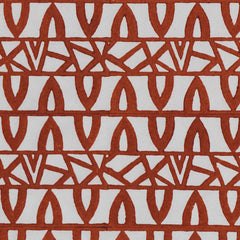 Burnt orange, Aztec on paper