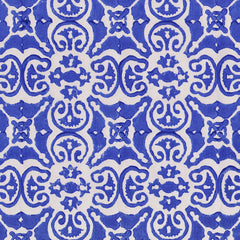 Persian tile, china blue on paper