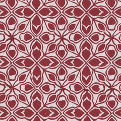Sarah's tile, burgundy, on paper