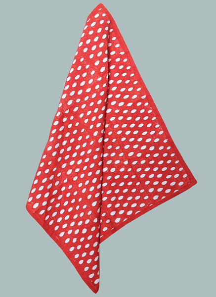 Dark orange inverse seed handkerchief