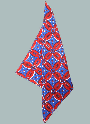 Red & blue handkerchief