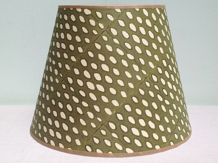 "12"" sludge green, closed seed lampshade"